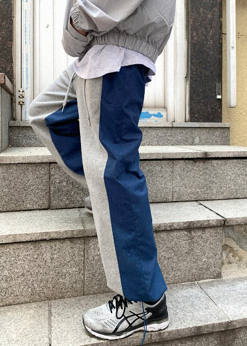 Two-Tone Wide Trousers(2 color)