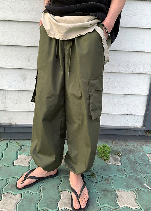 balloon string wide pants(2 color)