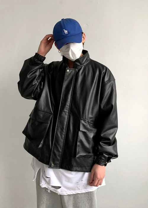 Swag Leather Jacket(1 color)