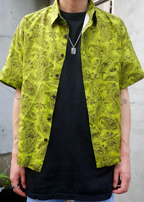 Kentaro Paisley 1/2 Shirts(2 color)