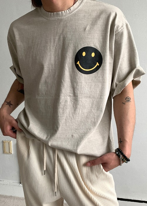 vintage smile pig dying t(2 color)