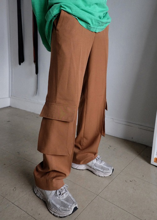 under cargo long slacks(3 color)