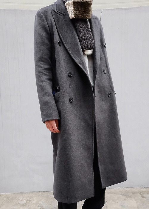 classic double long coat(2 color)
